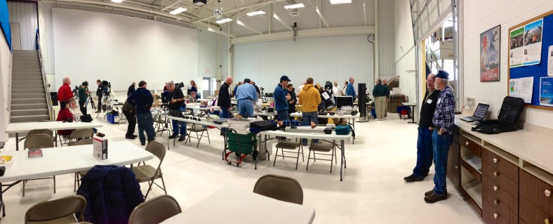 Plenty of astronomy people and gear at the Sheboygan Astronomical Society's annual Swap 'N Sell event!